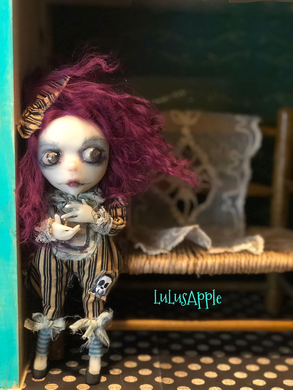 Tish Ghoulia Mini OOAK LuLusApple Art Doll