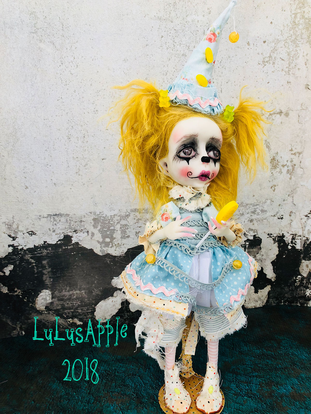 Tootie Twinkie The Clown Circus sadness OOAK LuLusApple Art Doll