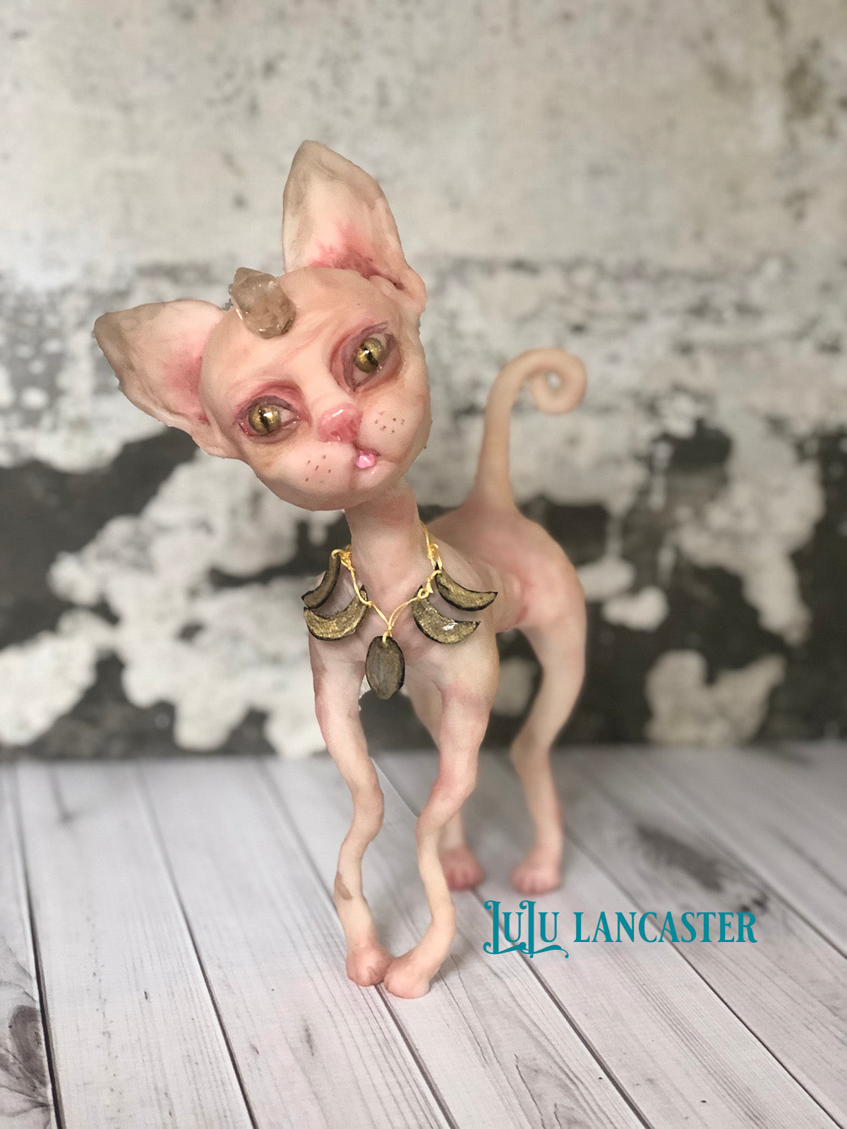 Akil the Sphinx Cat OOAK Art Doll LuLu Lancaster