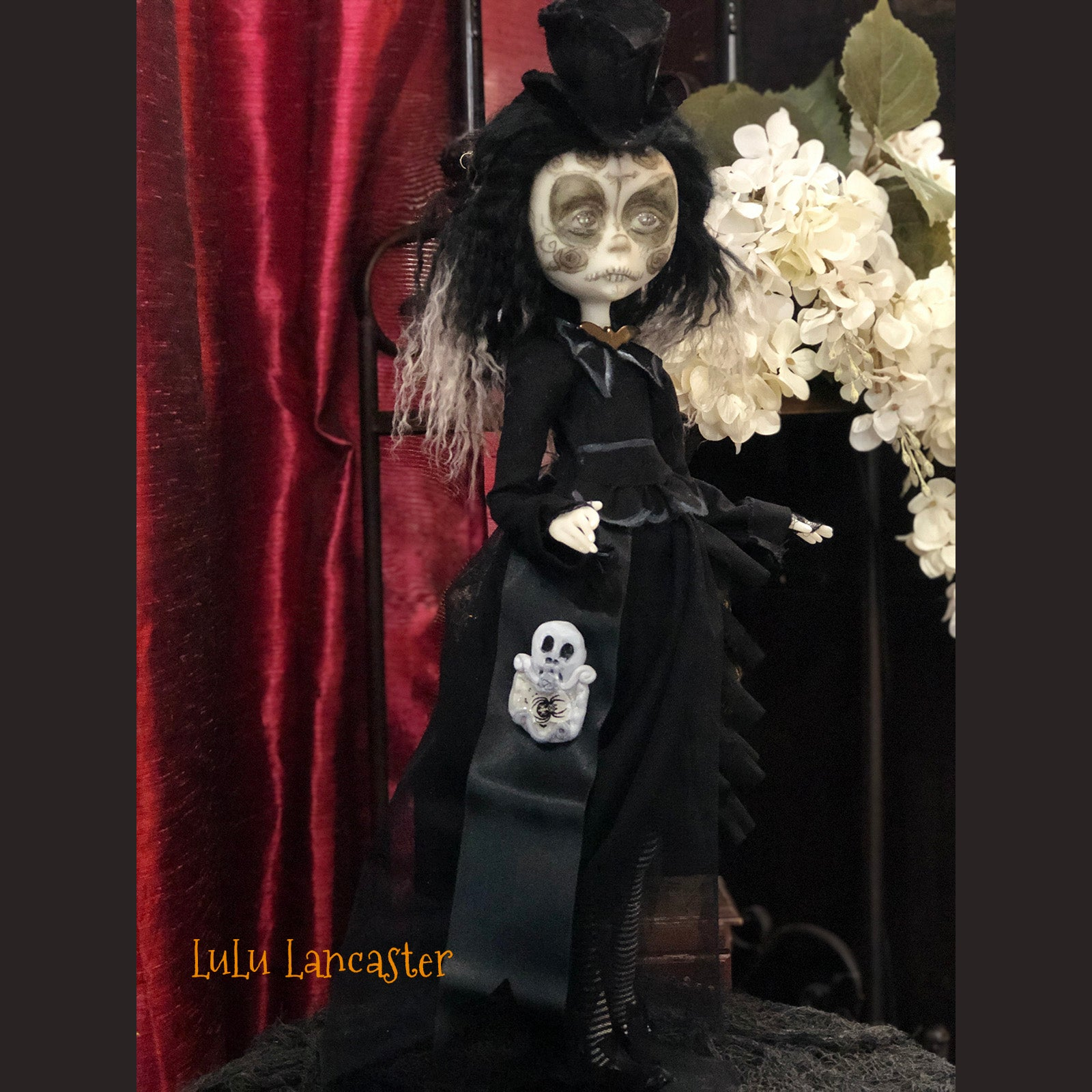 Alegria a los muertos Day of the dead OOAK Art Doll LuLu Lancaster