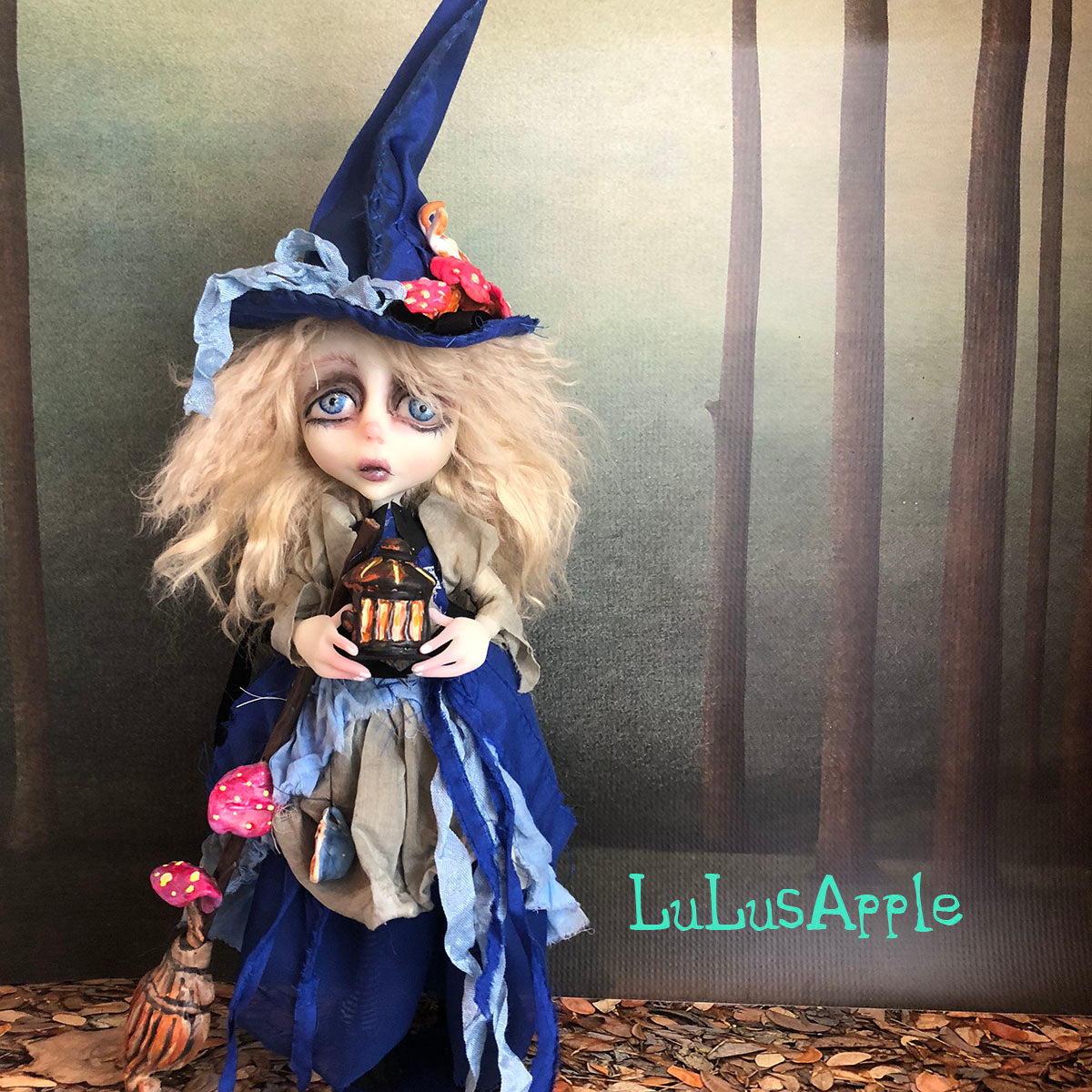 Alice the Wickety Witch Halloween Mashup LuLusApple OOAK Art Doll