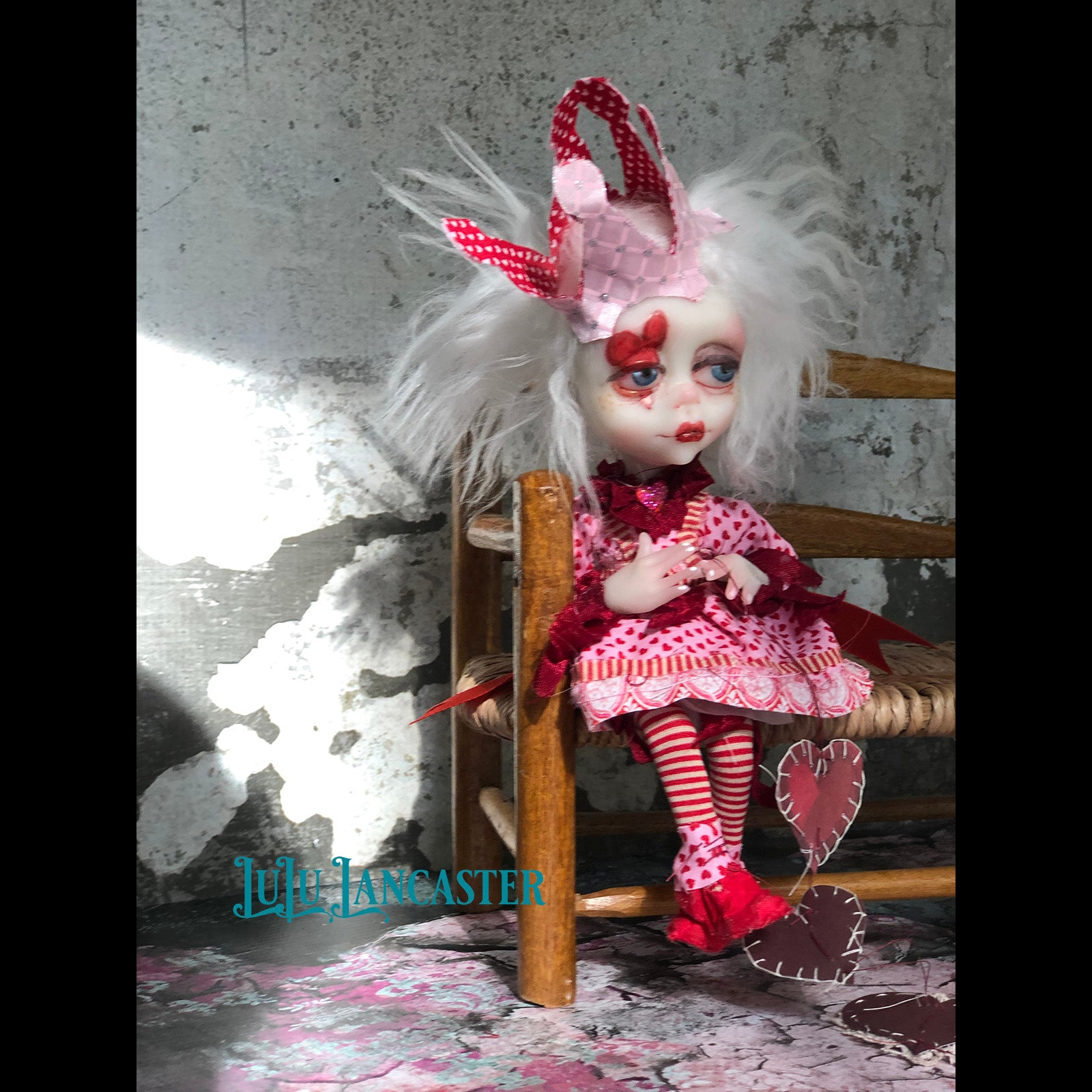 Anju Broken Hearted Mini OOAK LuLu Lancaster Art Doll