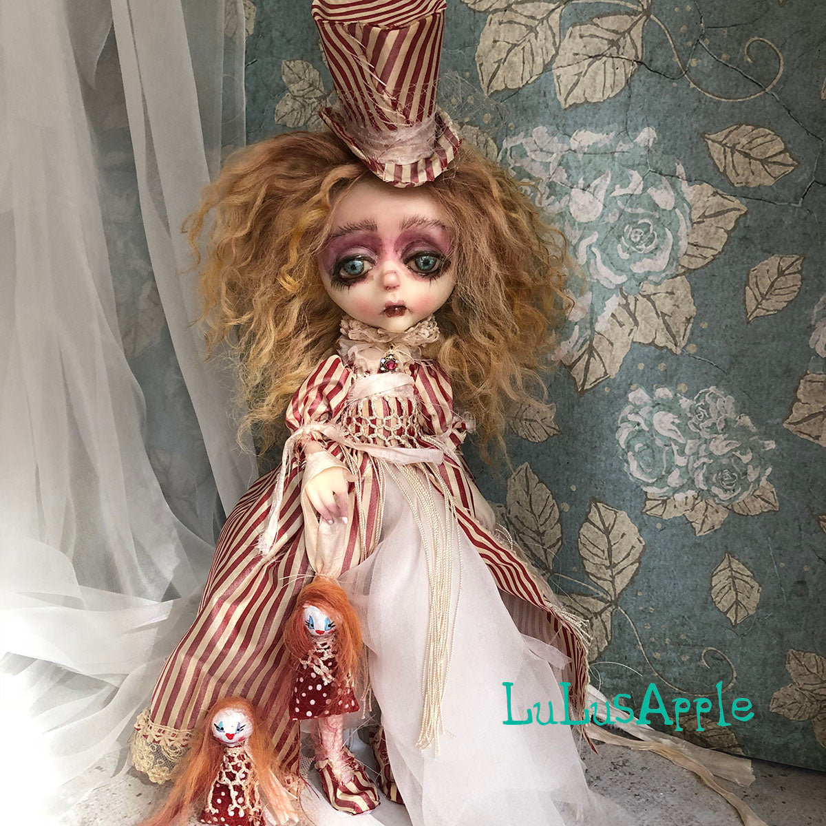 Ann the Dressmakers Wife Victorian Winter OOAK Art Doll LuLusApple