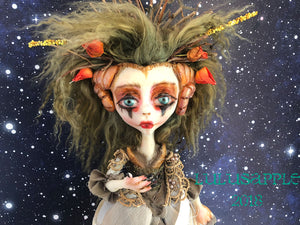 Aries the Ram OOAK Pagan Woodland Maenad LuLusApple Art Doll