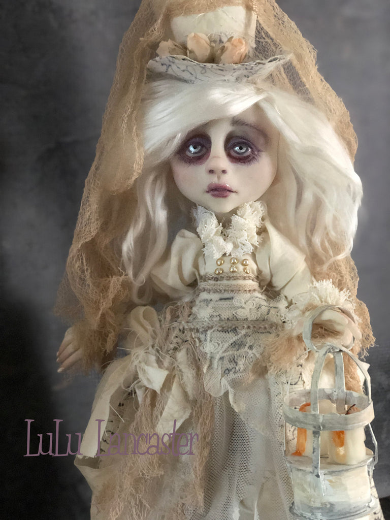 Aster the Victorian Ghost One of a Kind Art Doll by LuLu Lancaster