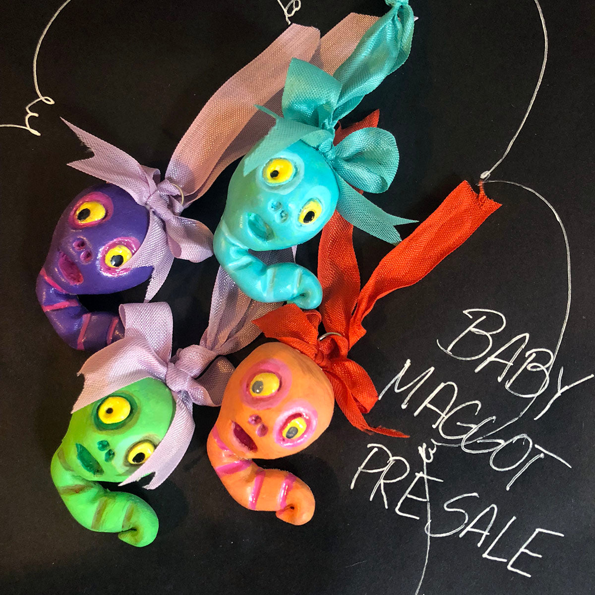 PRE SALE Baby Maggot Resin Ornament set of 4