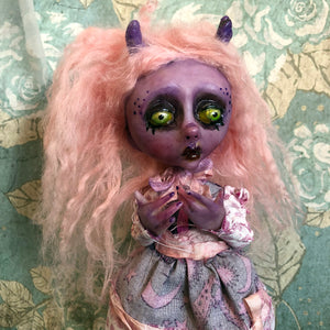 Bean Monster Demon mini OOAK LuLusApple Art Doll