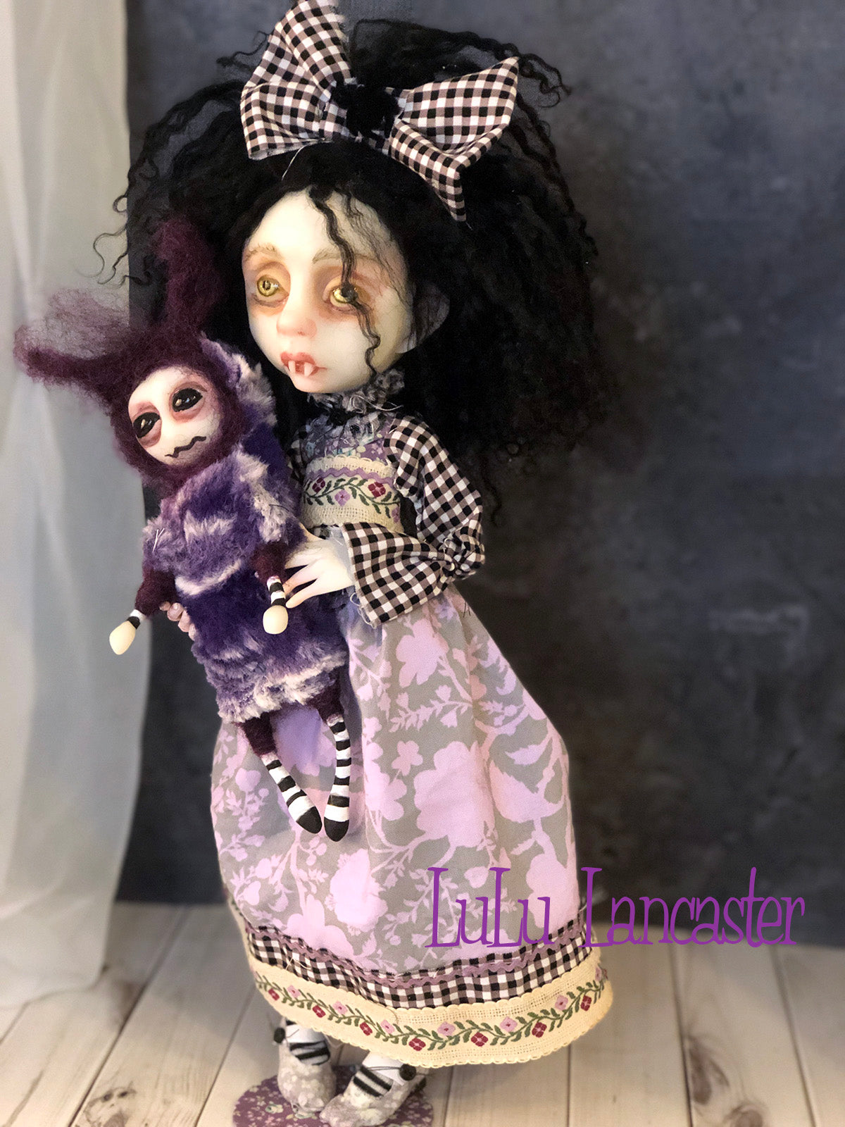 Beatrice VonDraga Vampire Halloween Original Art Doll by LuLu Lancaster