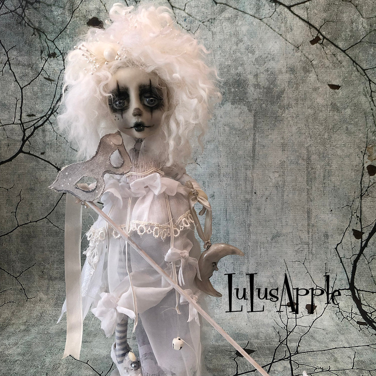 Bernadette the Fool Ghostly Rococo Winter boy OOAK Art Doll LuLusApple