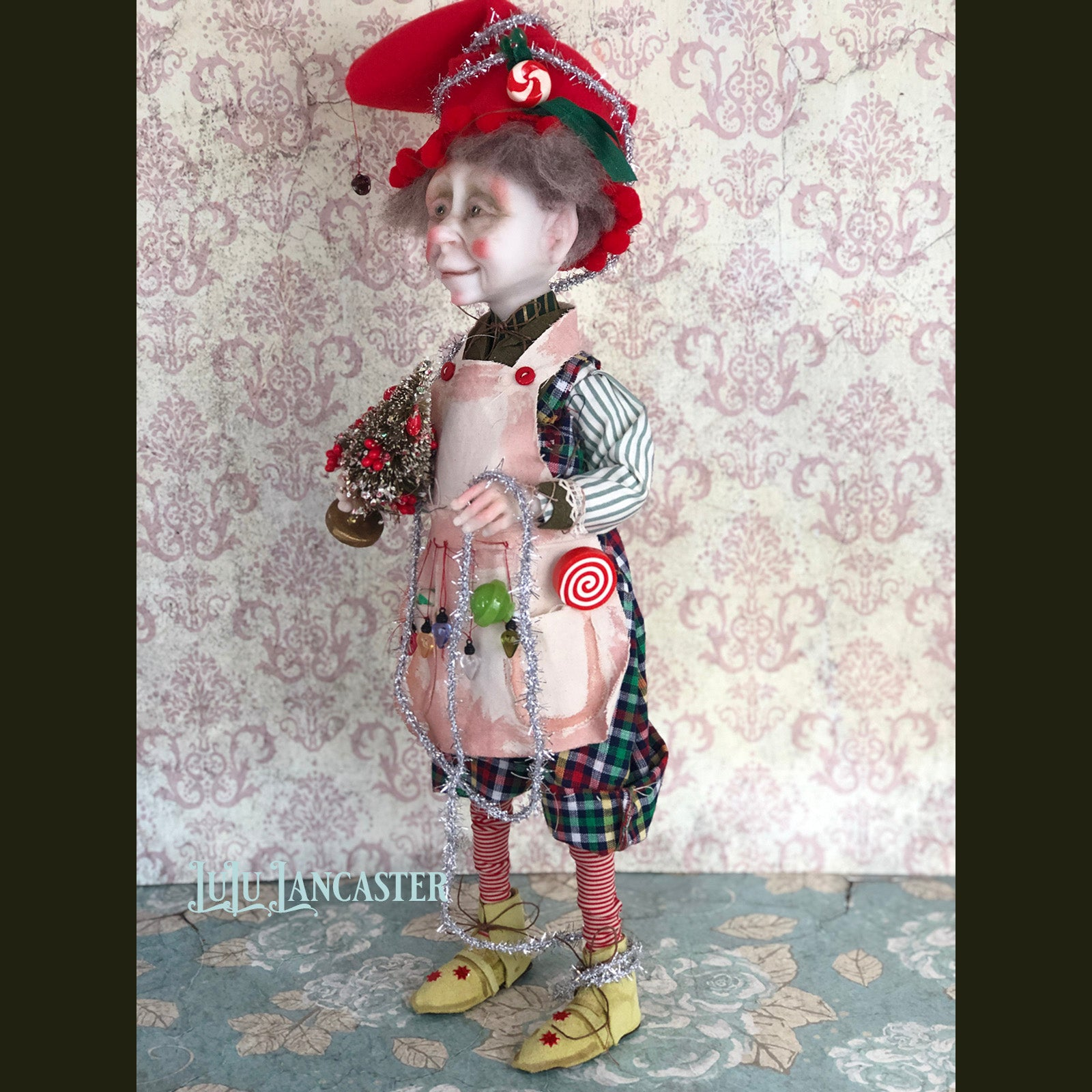 Bernie the Christmas Elf OOAK Art Doll LuLu Lancaster