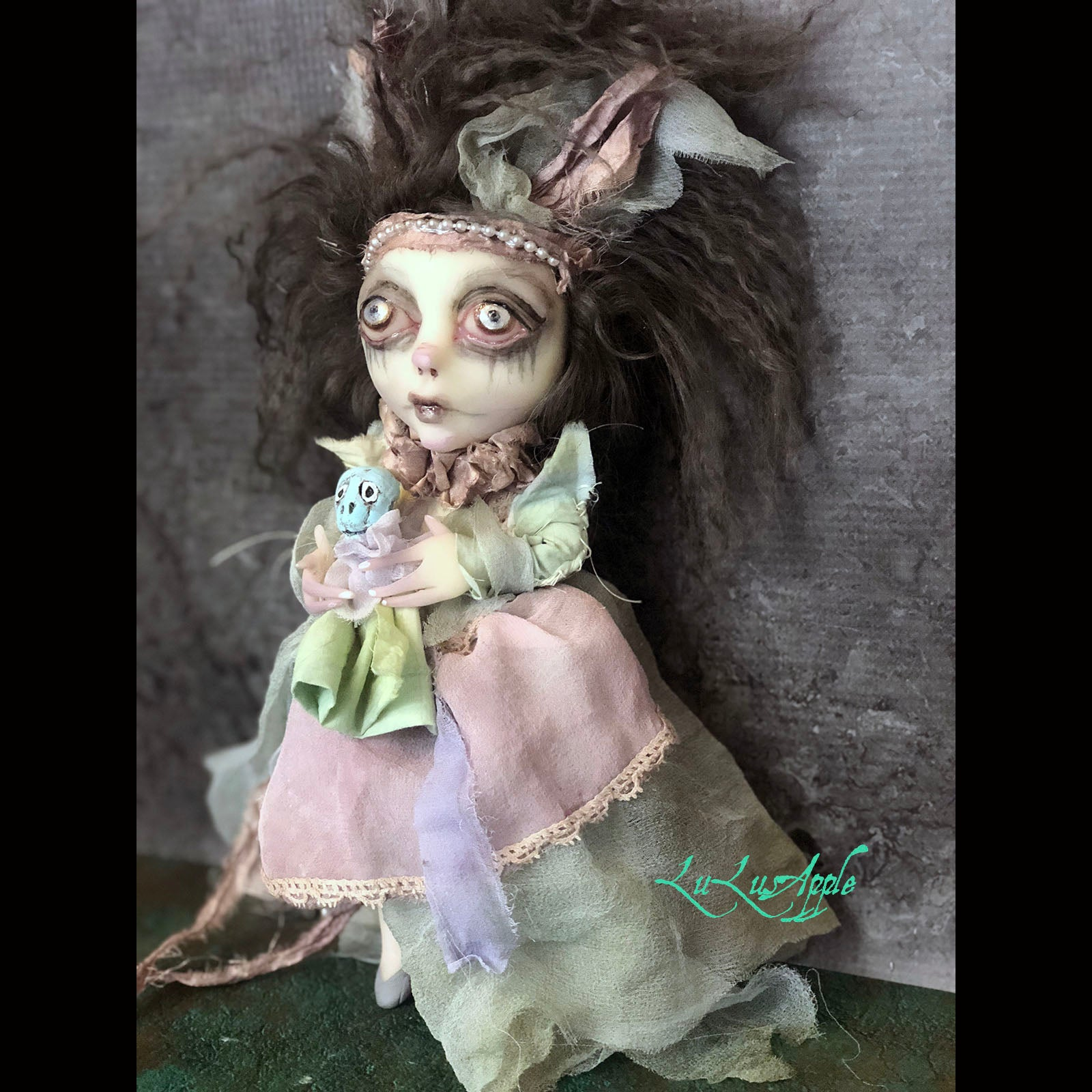 Betsy Ghoulia Mini Ghostly Girl OOAK LuLusApple Art Doll