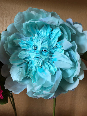 Blue flower Wonderland OOAK Art Doll LuLu Lancaster