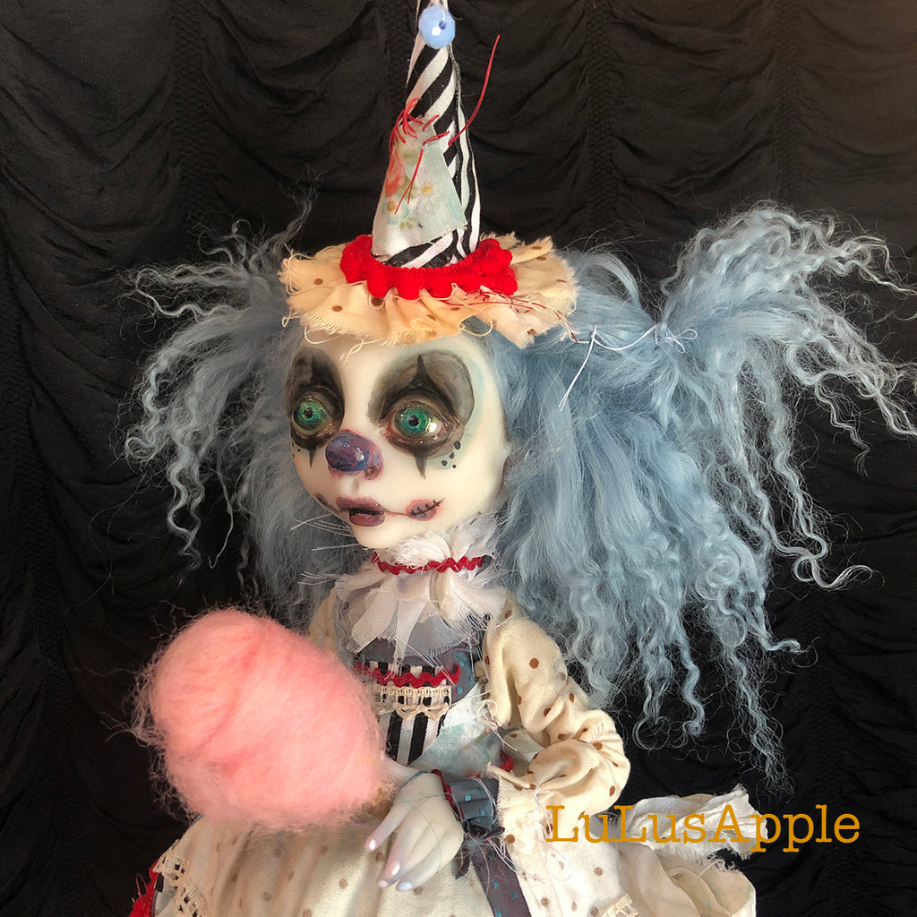 Blueberry Huxley Poupee the sad victorian clown child OOAK Art Doll LuLusApple
