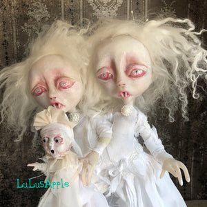 Brannon and Britton Conjoined Gothic Victorian Vampire Twins OOAK Art Dolls LuLusApple