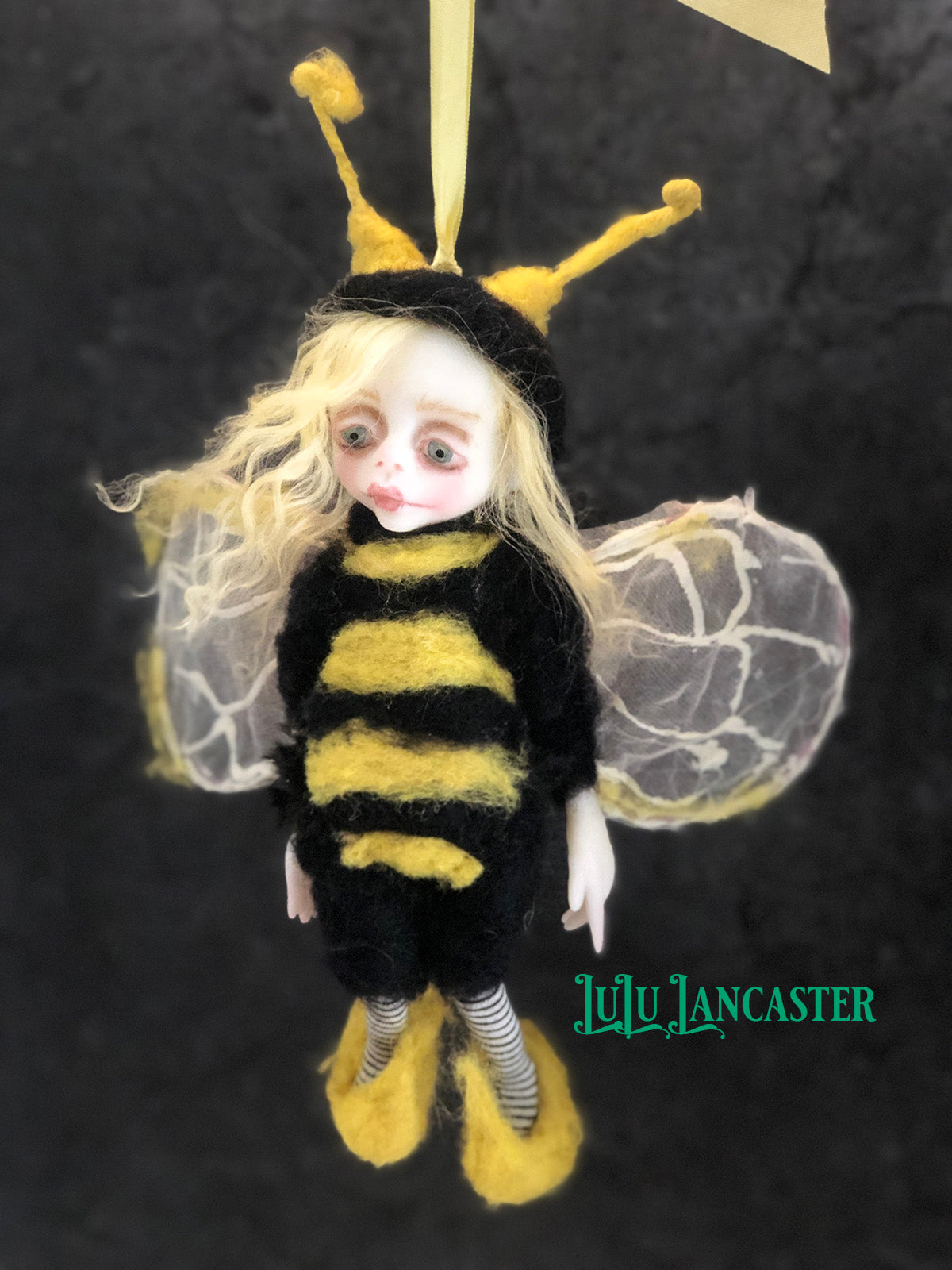 Breezy the Bee hanging OOAK Art Doll LuLu Lancaster