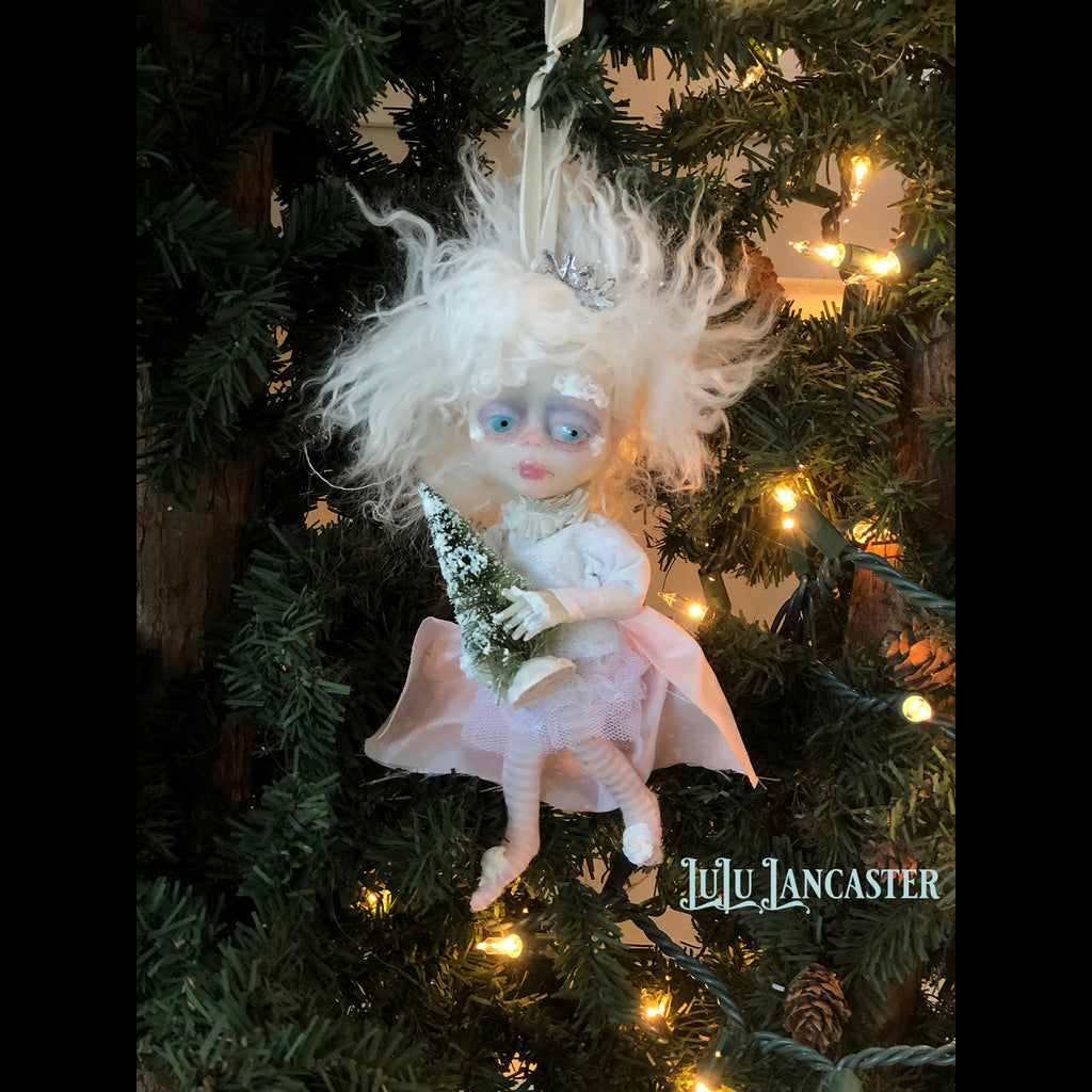 Brisk Mini hanging Frostie Ornament OOAK Art Doll LuLu Lancaster