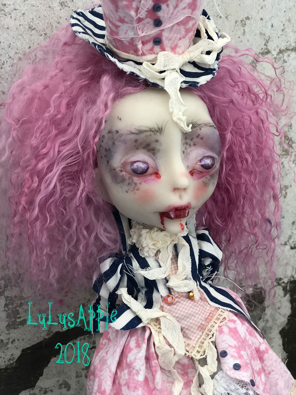Bristol the Biter Gothic Victorian Vampire LuLusApple Art Doll