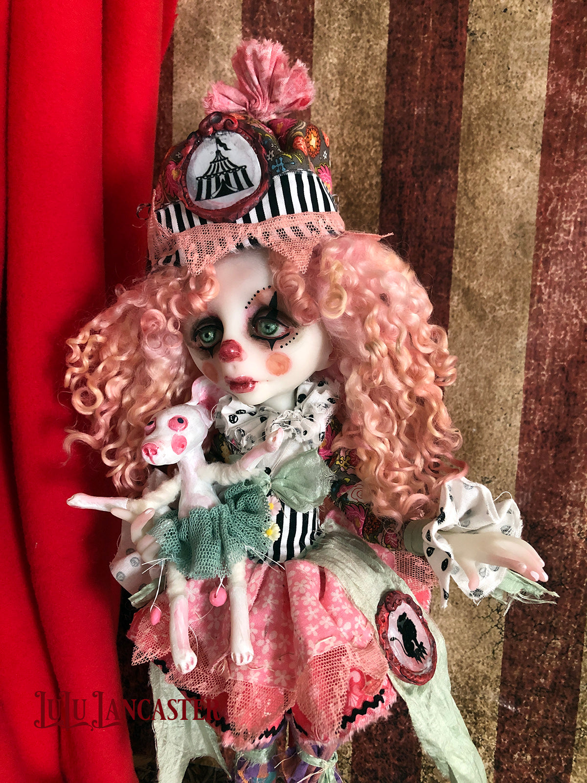 JoJoTrix Poupee the clown and Izze Original LuLu Lancaster Art Dolls