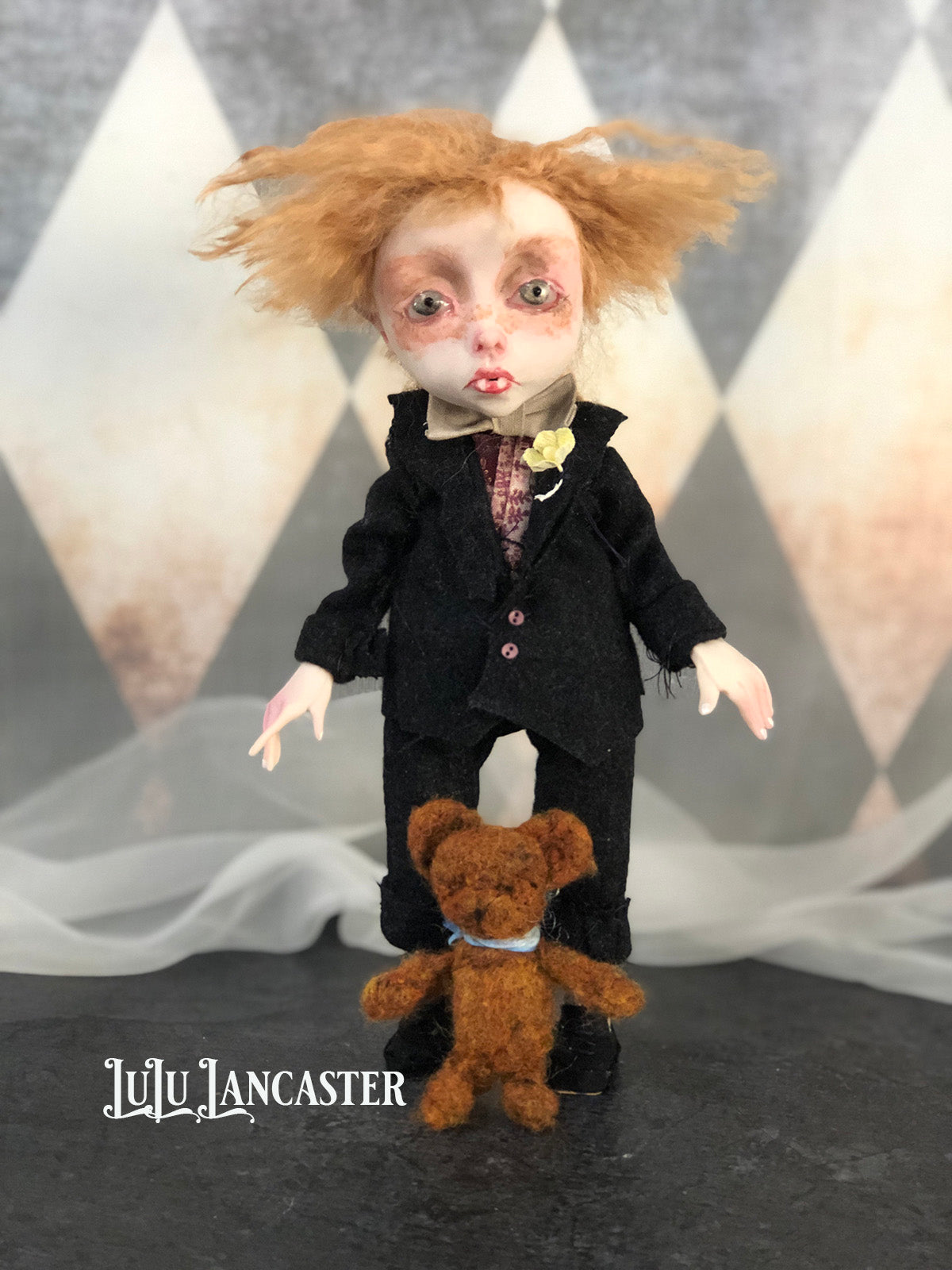 Little Calvin the vampire OOAK original LuLu Lancaster Art Doll