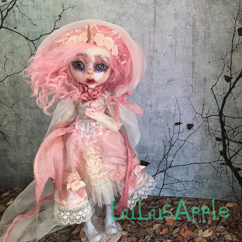 Cambria the Unicorn OOAK Art Doll LuLusApple