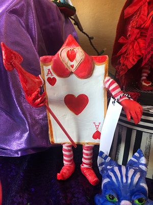 Card Guard Ace of Hearts OOAK Art Doll LuLu Lancaster