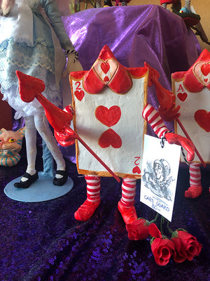 Card Guard two of Hearts OOAK Art Doll LuLu Lancaster