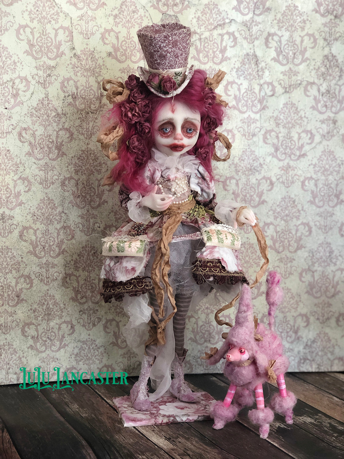 Charlene and Crepsly OOAK Art Doll LuLu Lancaster