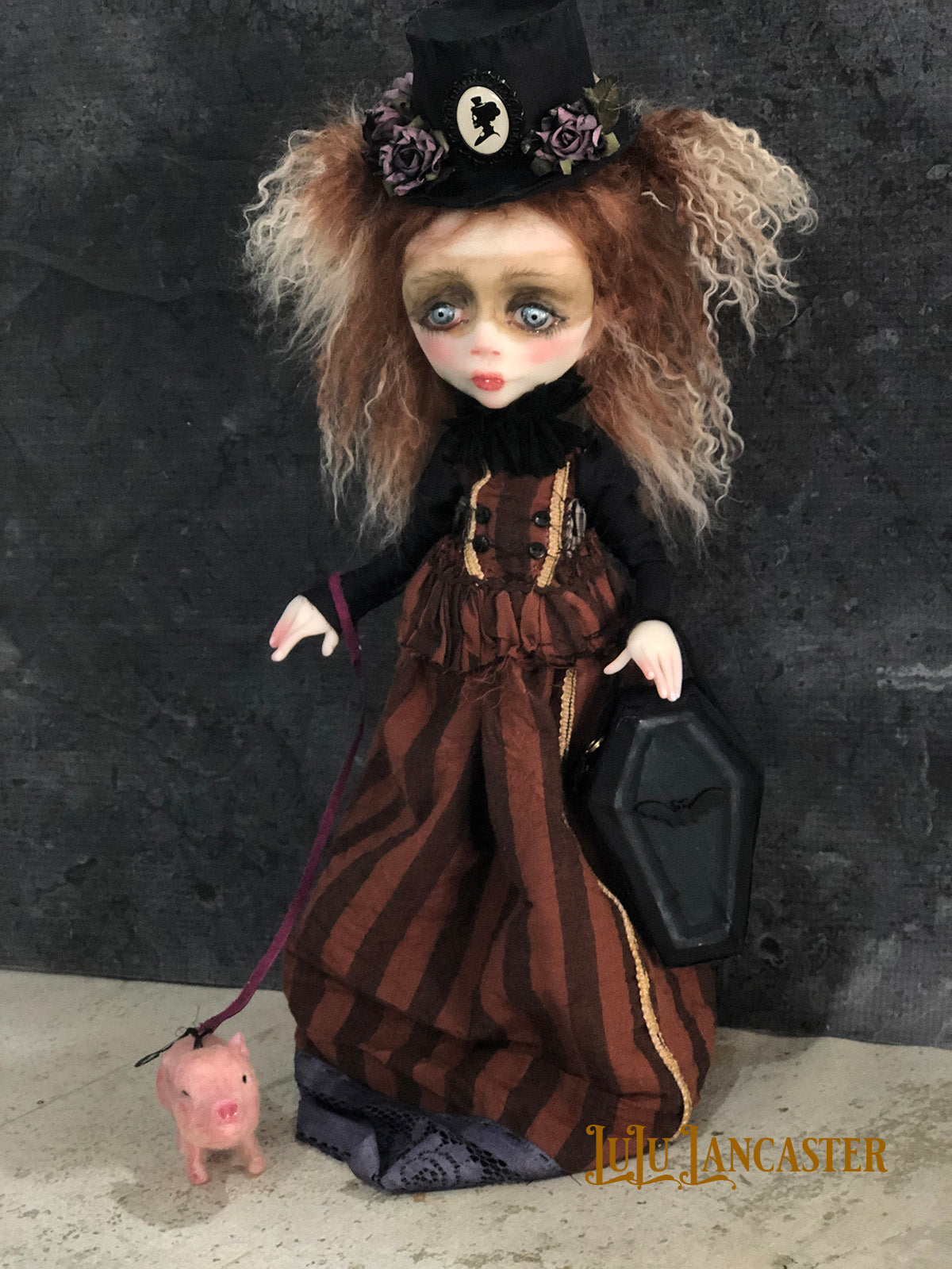 Cloris and Salt Gothic Victorian OOAK LuLu Lancaster Art Doll