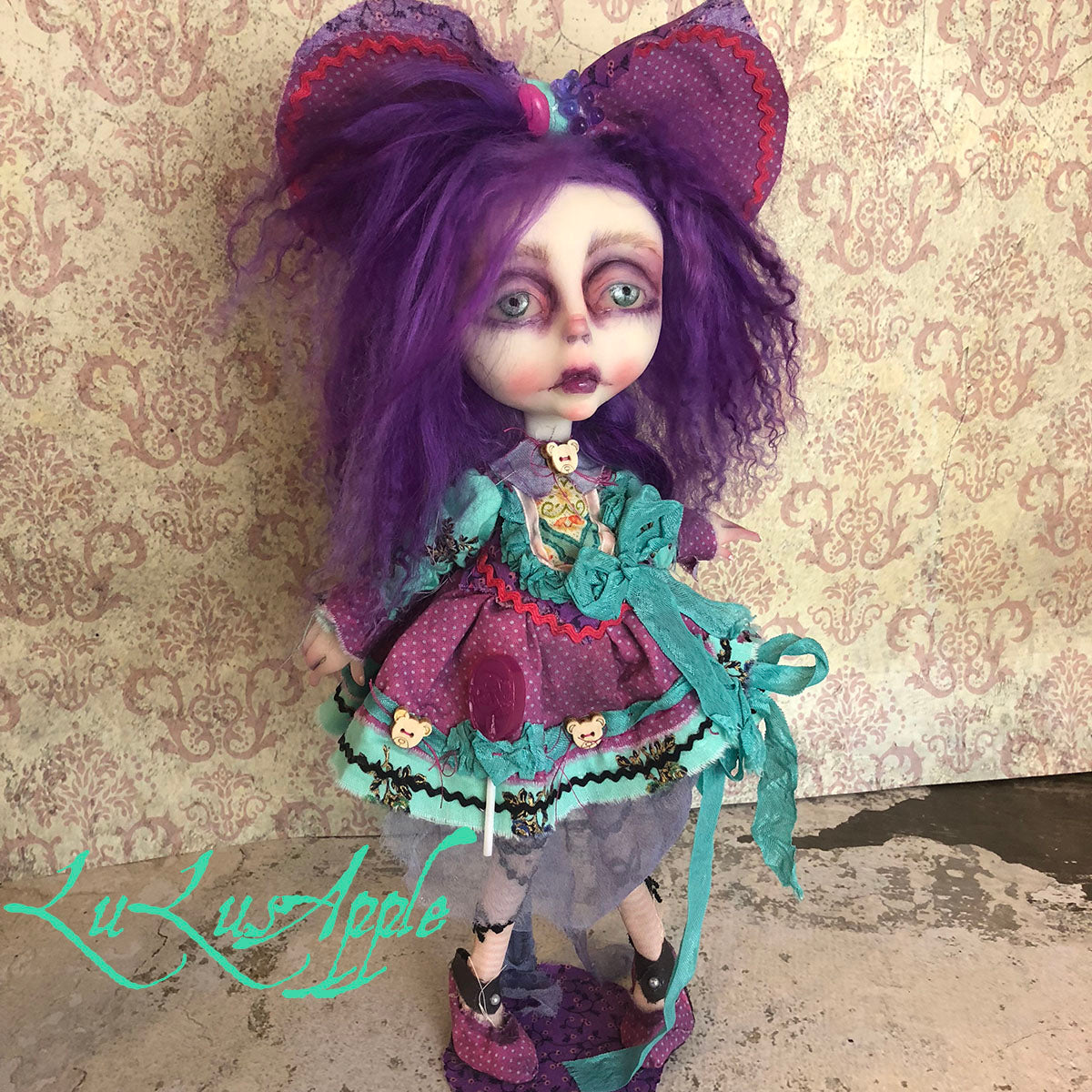Daphne Candy Girl Gothic Lolita sadness OOAK LuLusApple Art Doll