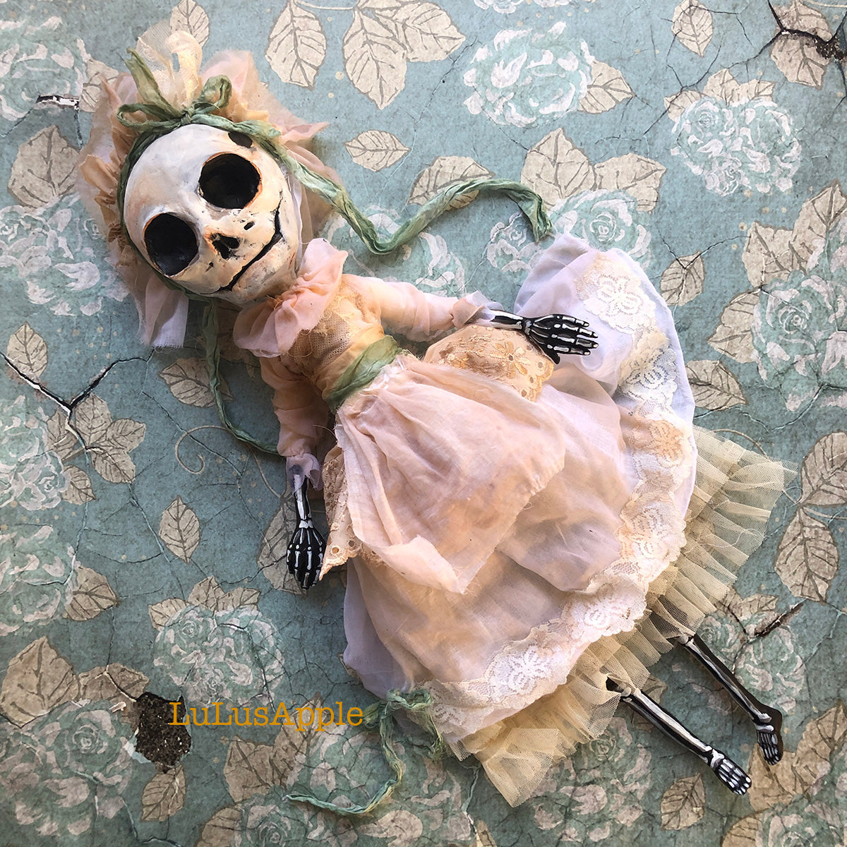Shelley the Skelly OOAK Art Doll LuLusApple