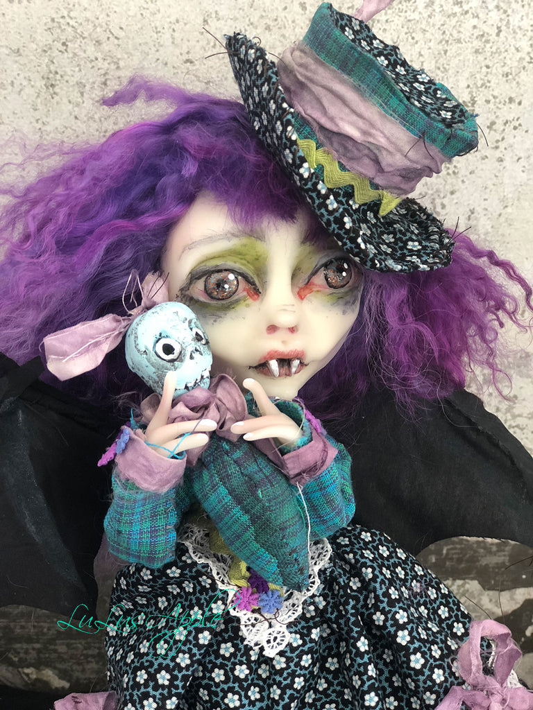 Deirdre the Vampire Bat OOAK LuLusApple Art Doll