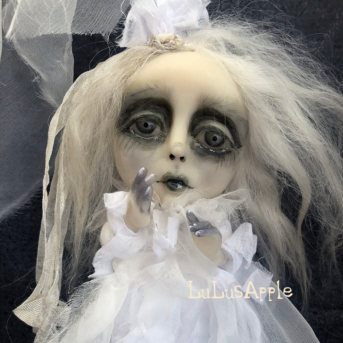 Delli Ghostly girl of Penchant Place  Mini OOAK LuLusApple Art Doll