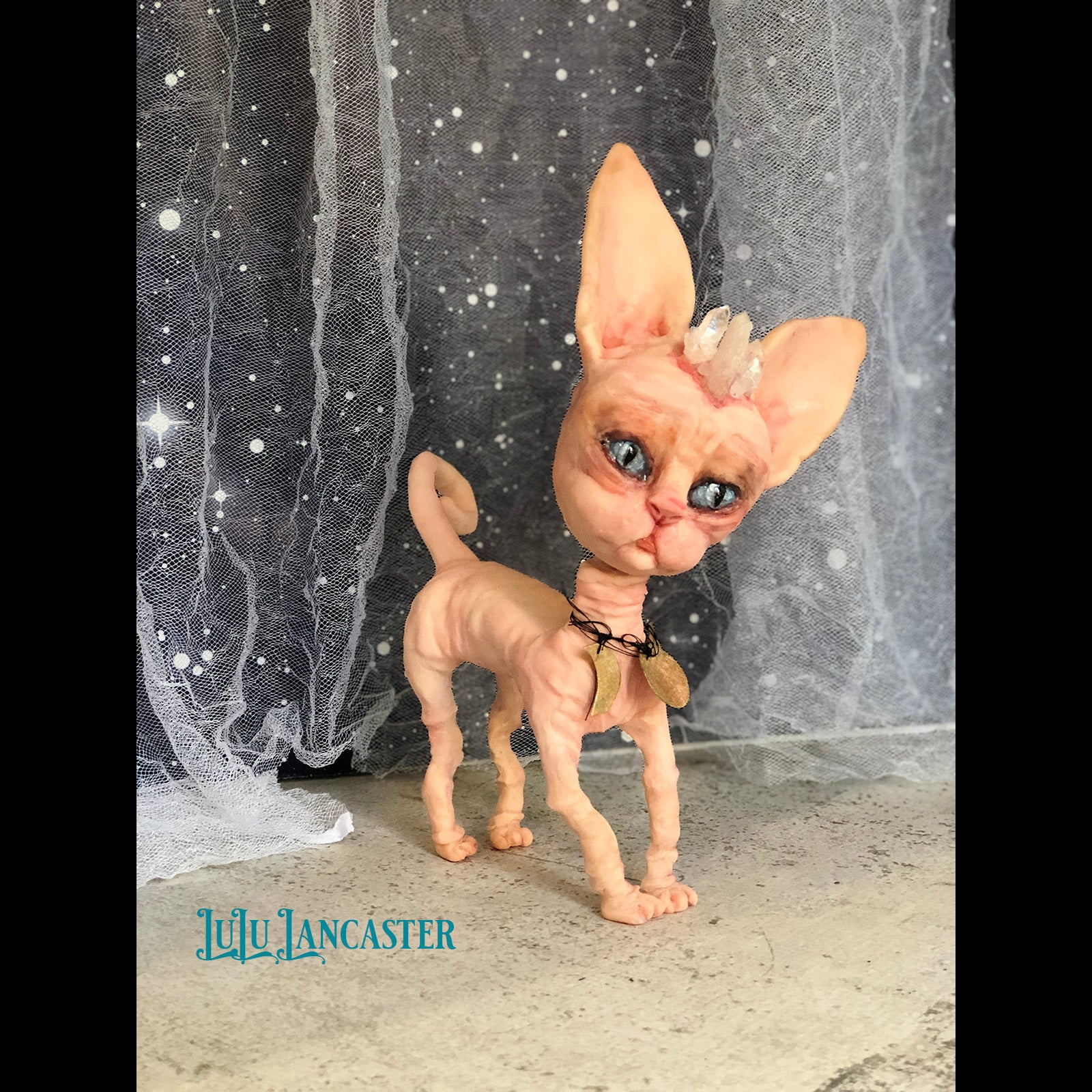 Dexie the Sphynx Cat OOAK Art Doll LuLu Lancaster