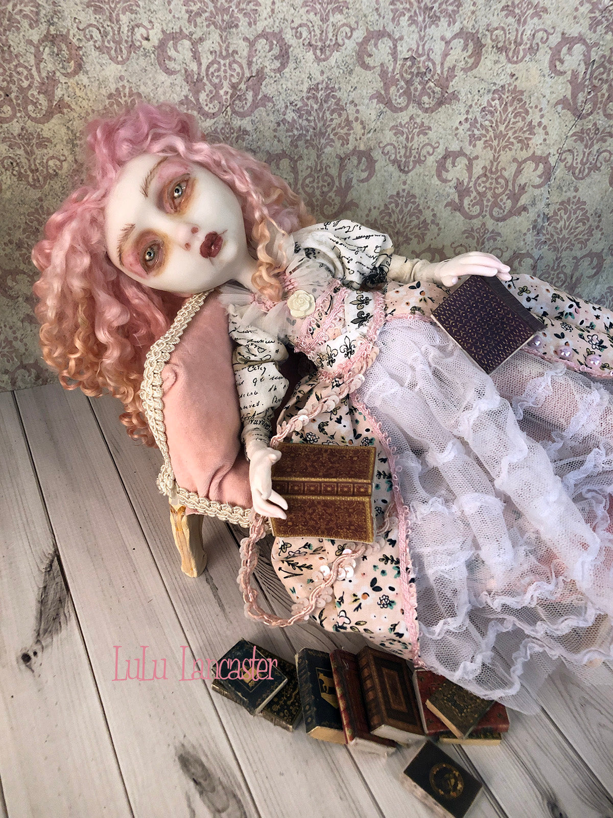 Dita Victorian Lady Original Art Doll by LuLu Lancaster