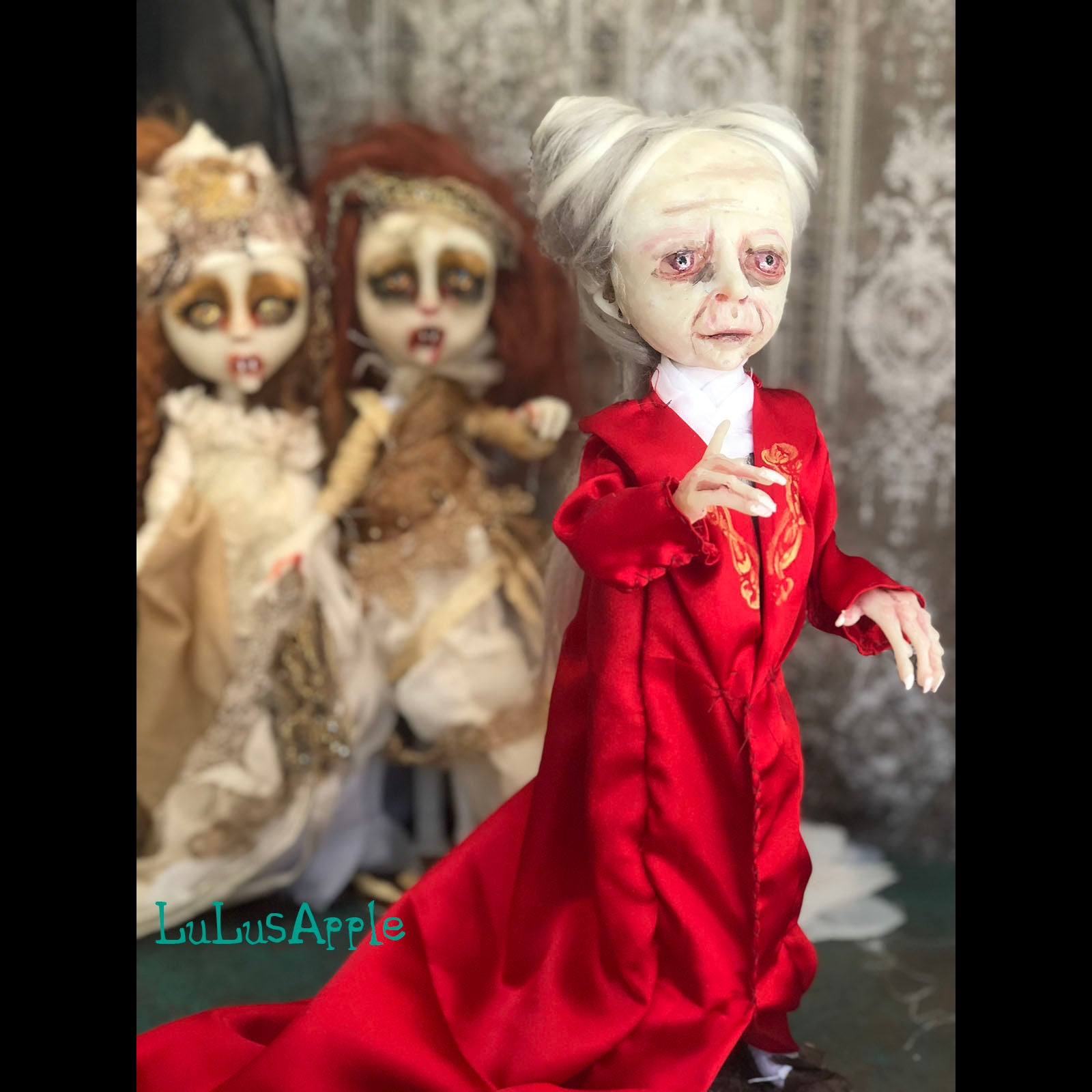 The Count Dracula Vampire Halloween Art Doll OOAK LuLusApple