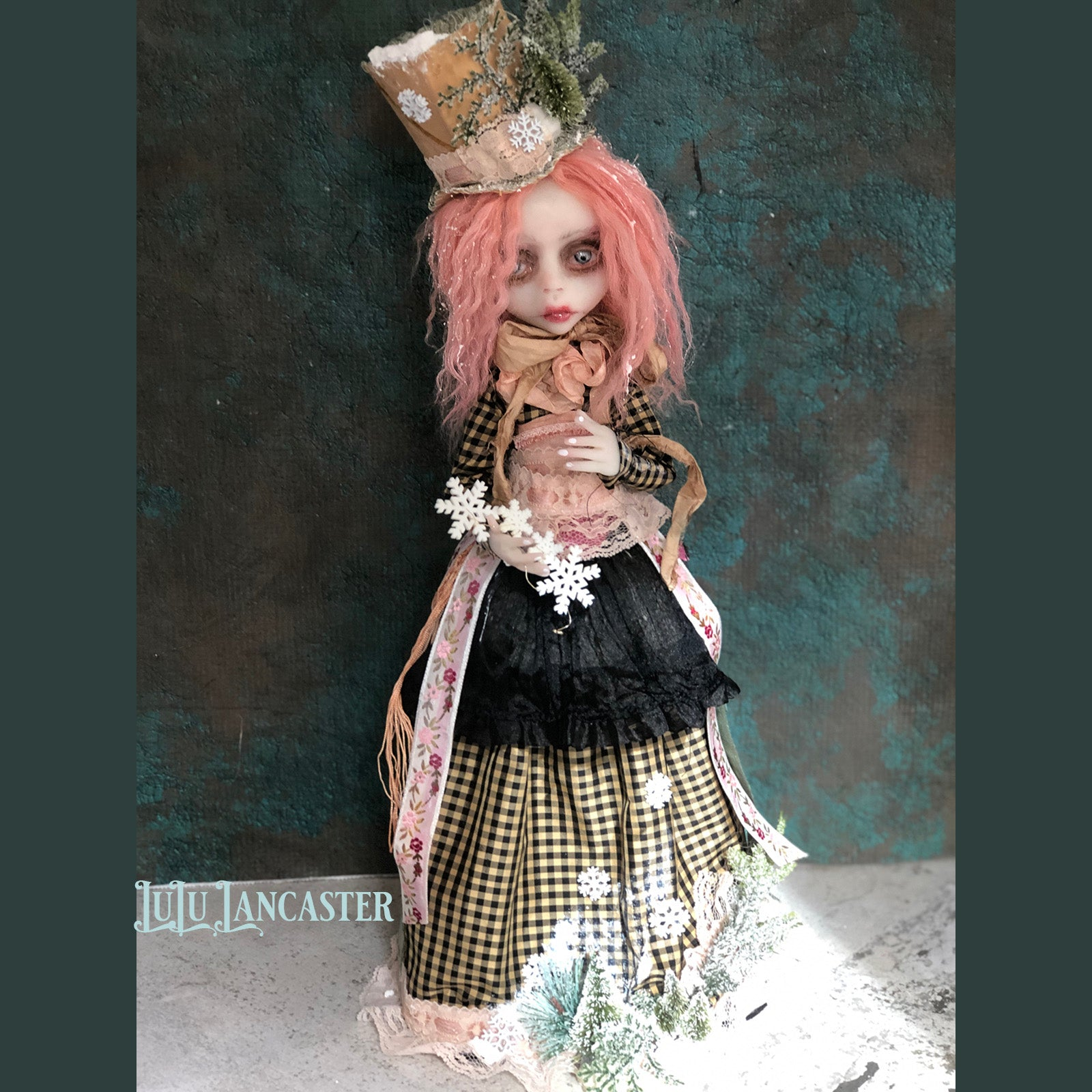 Edrei the Flurry Victorian Christmas OOAK Art Doll LuLu Lancaster