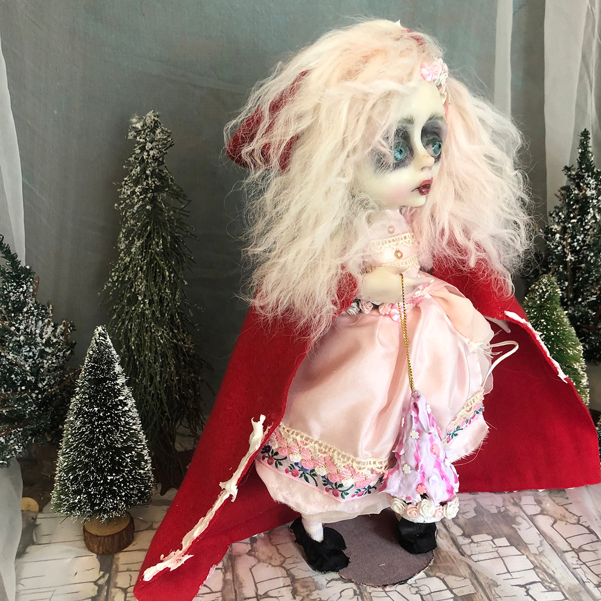 Eliza shabby victorian style Winter OOAK Art Doll LuLusApple