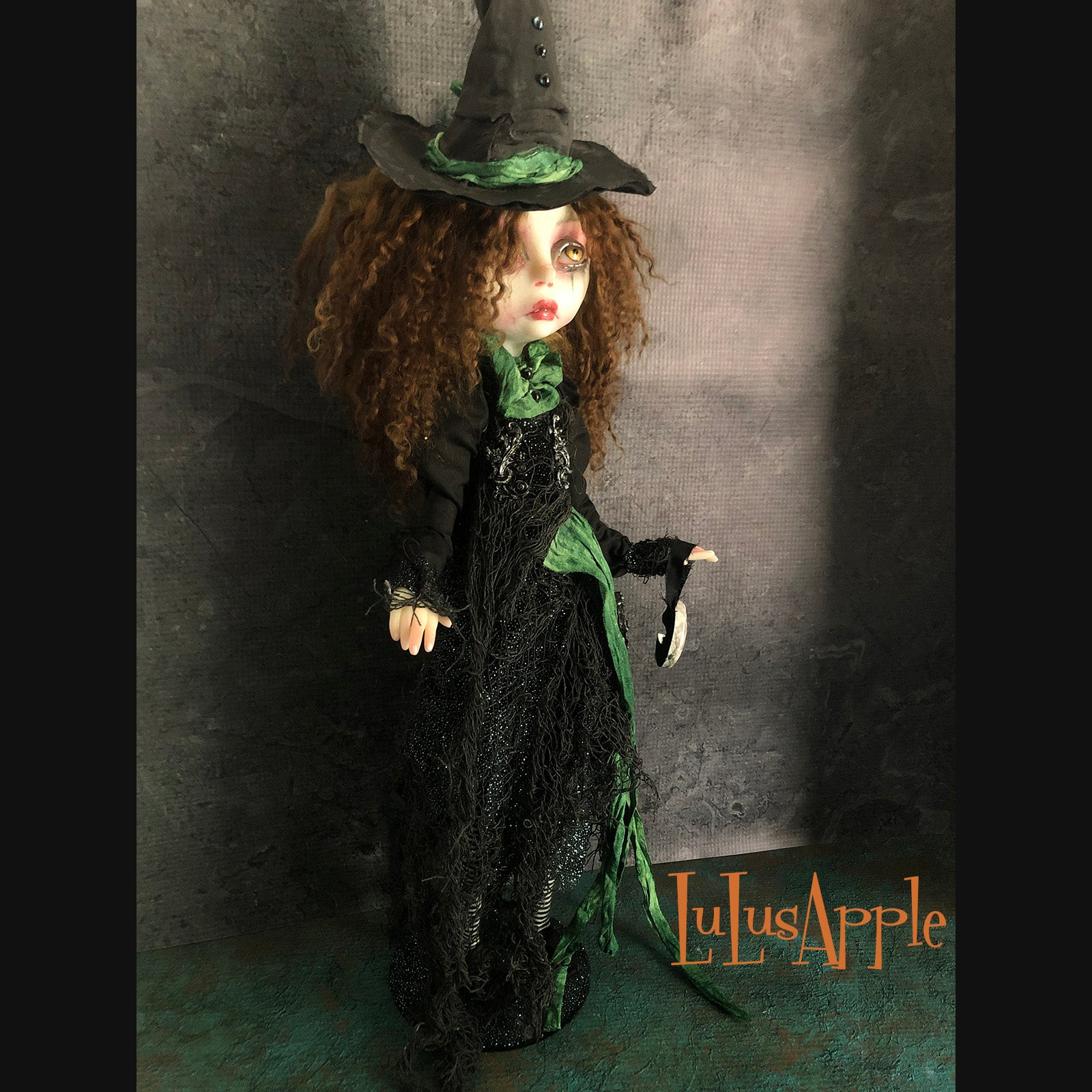 Emerald the Witch Halloween OOAK Art Doll LuLusApple
