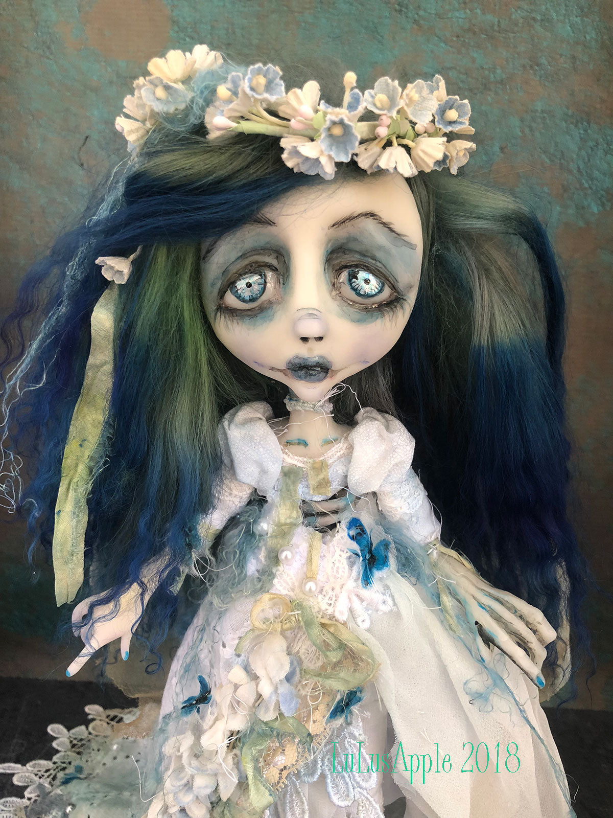 Emily a Corpse dead bride Art Doll OOAK LuLusApple