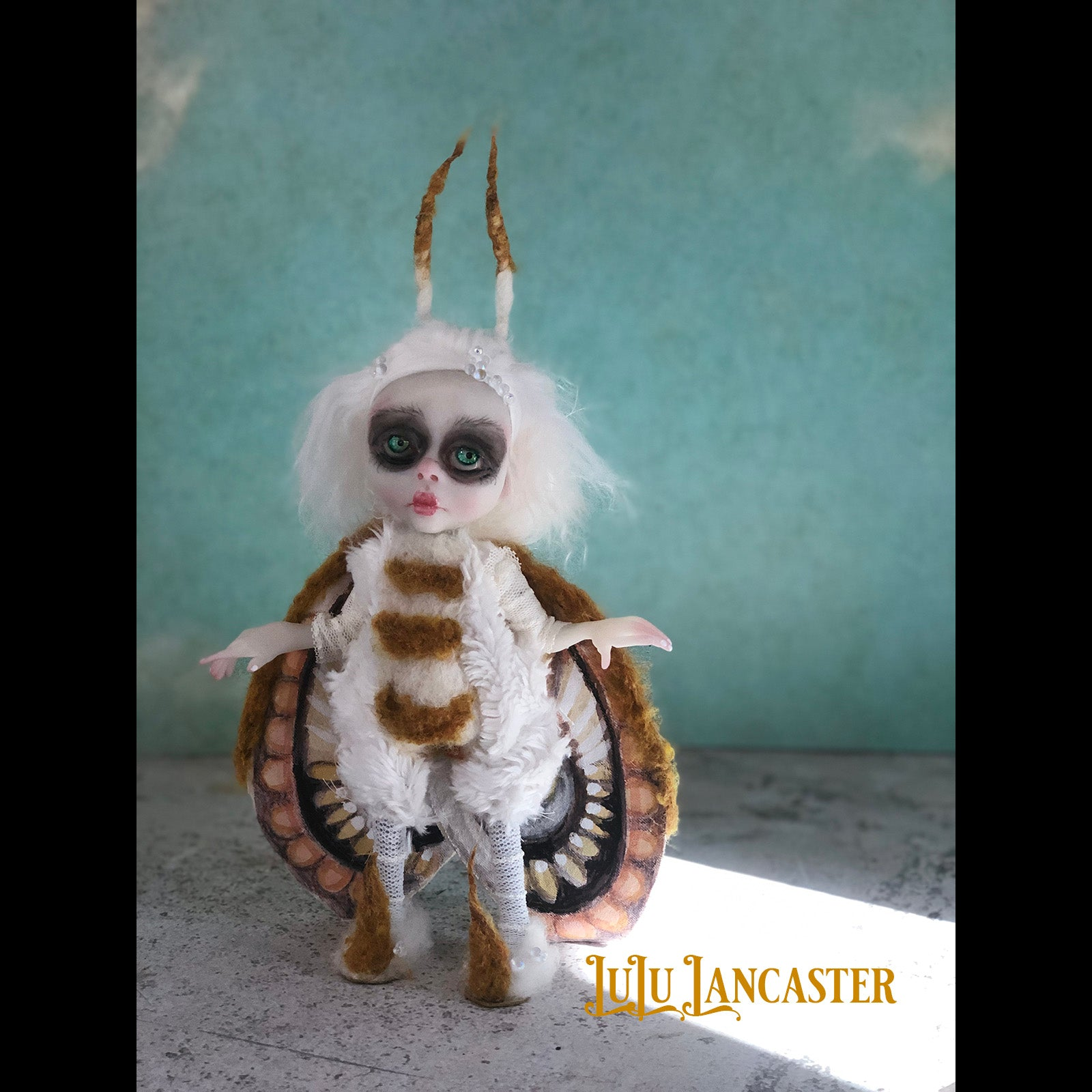 Everly The Winter Moth mini OOAK Art Doll LuLu Lancaster