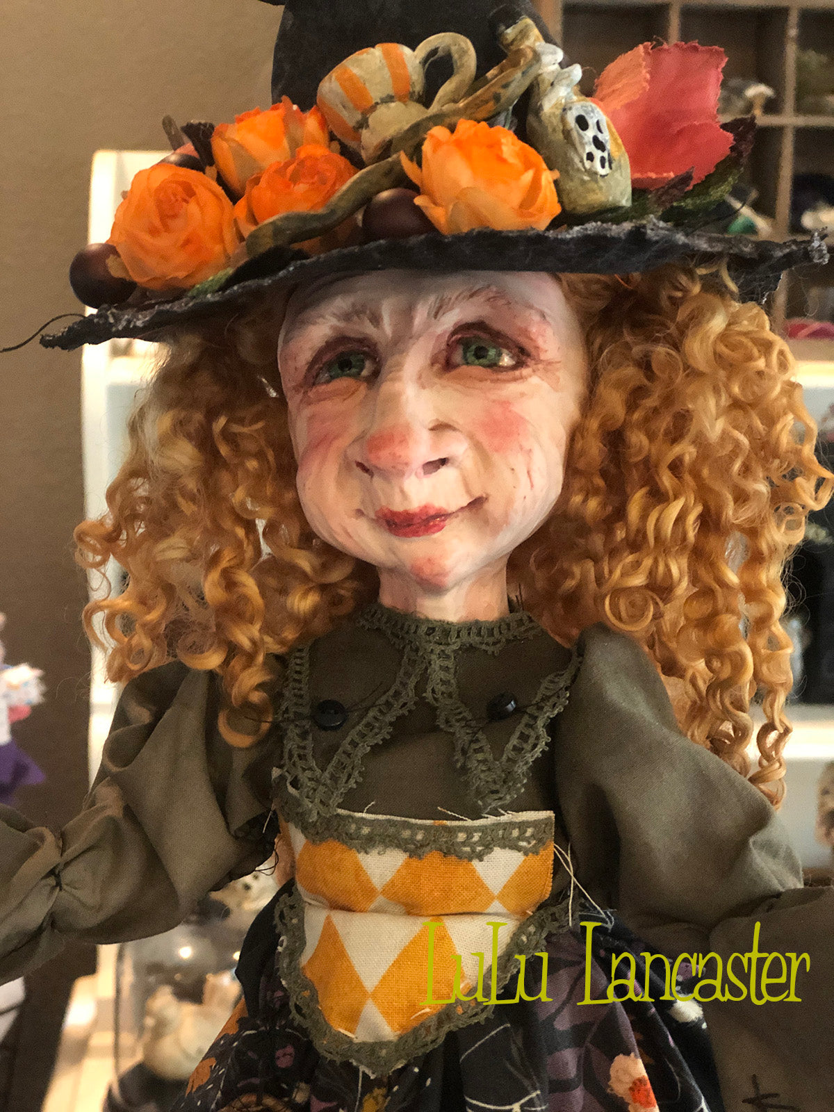 Farlen Malor Pumpkinella Wickety Witch OOAK Large Art Doll LuLu Lancaster