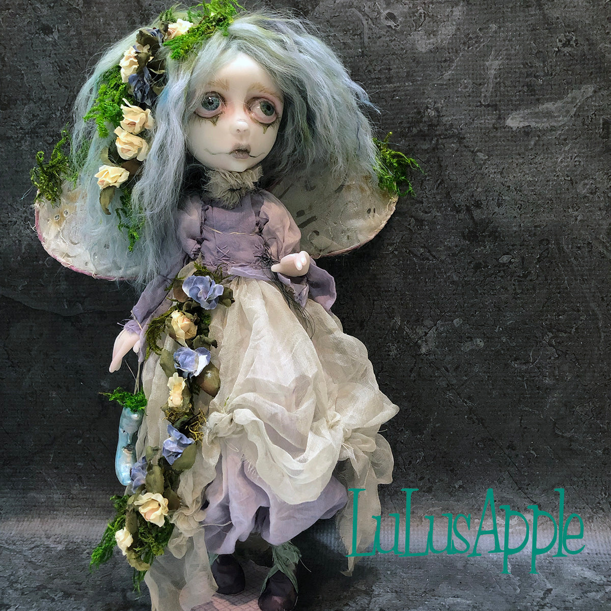 Fen of the Mosslands woodland fairy OOAK Art Doll LuLusApple