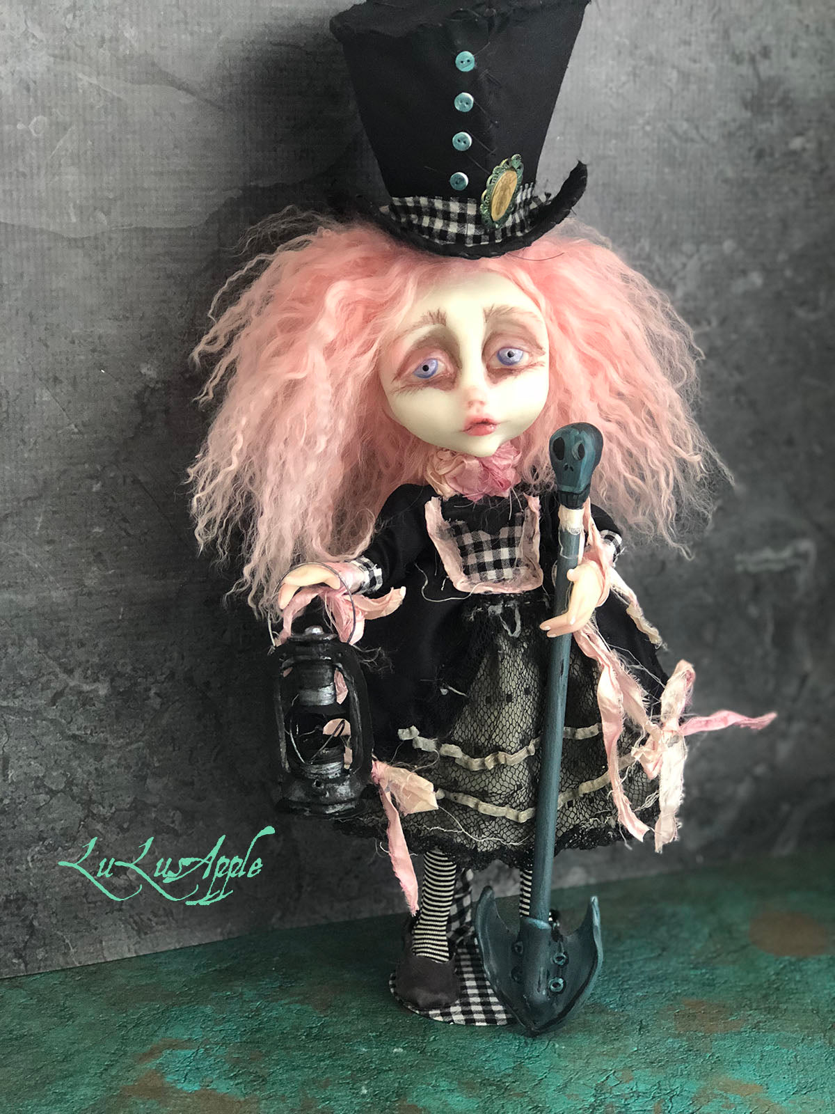 Fenton the Grave Digger OOAK LuLusApple Art Doll