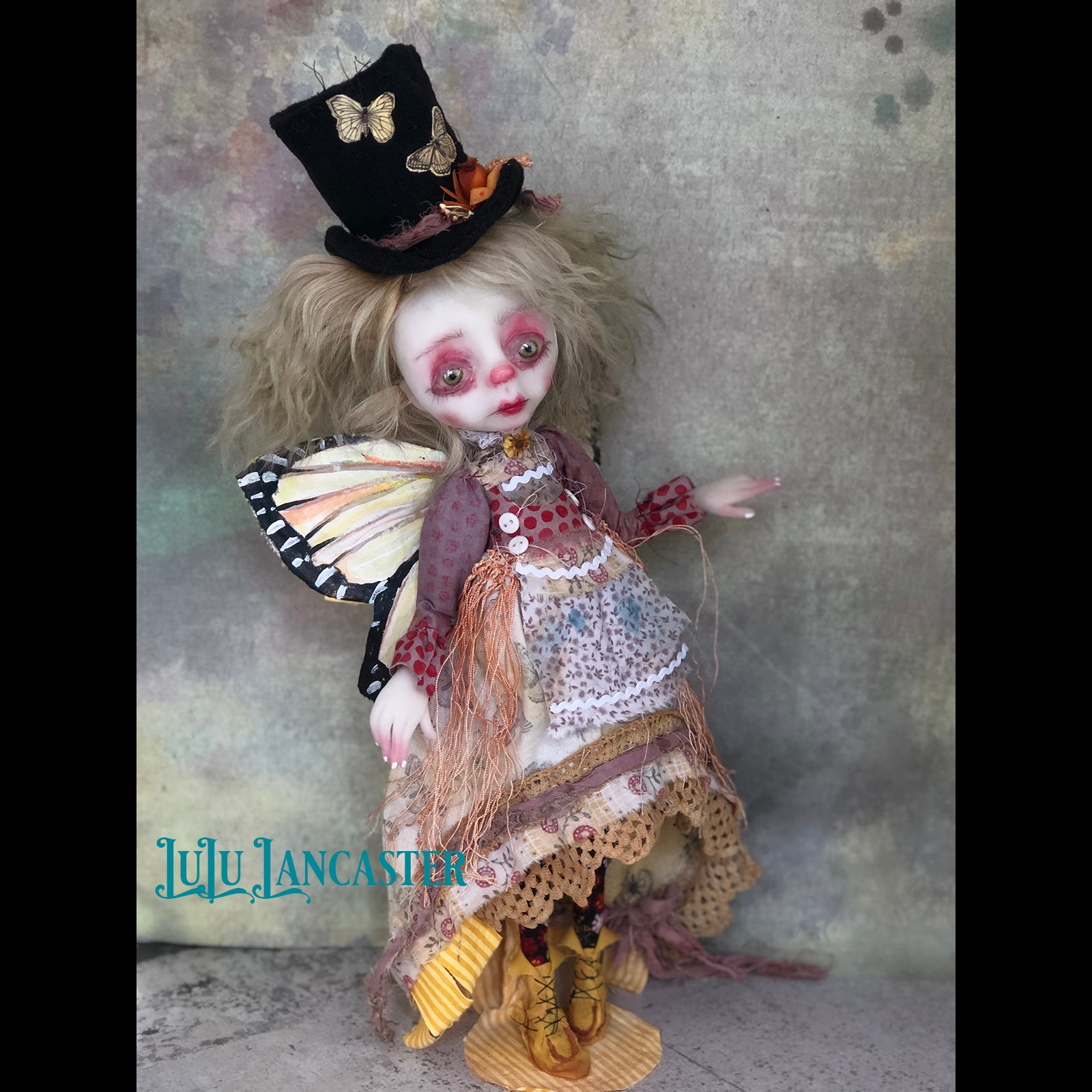 Finch Witherdale Gypsy Butterfly OOAK Art Doll LuLu Lancaster