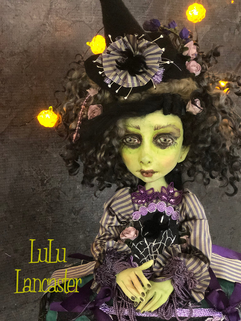 Finola the Rococo Witch Halloween OOAK Art Doll LuLu Lancaster