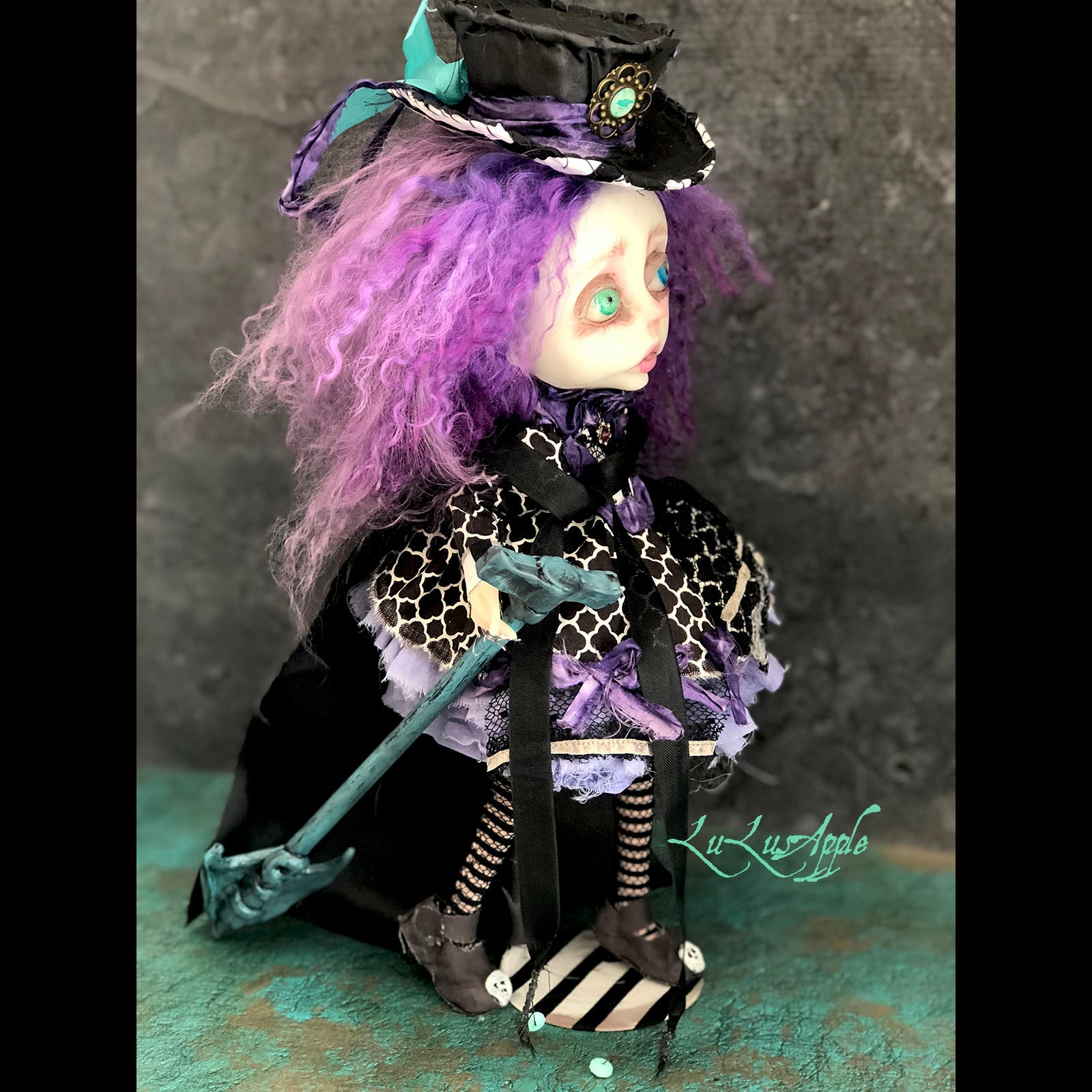Freya the Grave Digger OOAK LuLusApple Art Doll