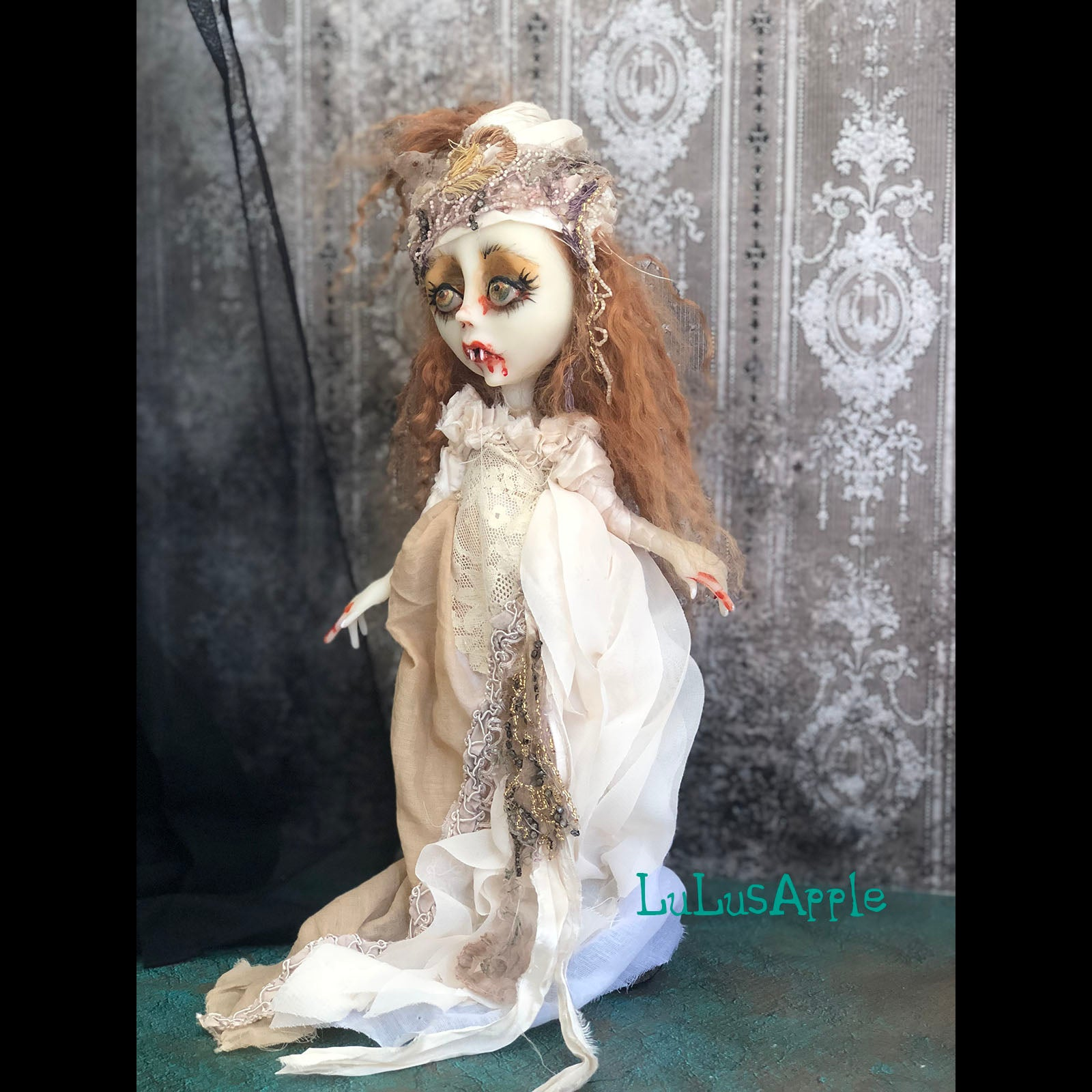 Galianna Vampire Bride Halloween Art Doll OOAK LuLusApple