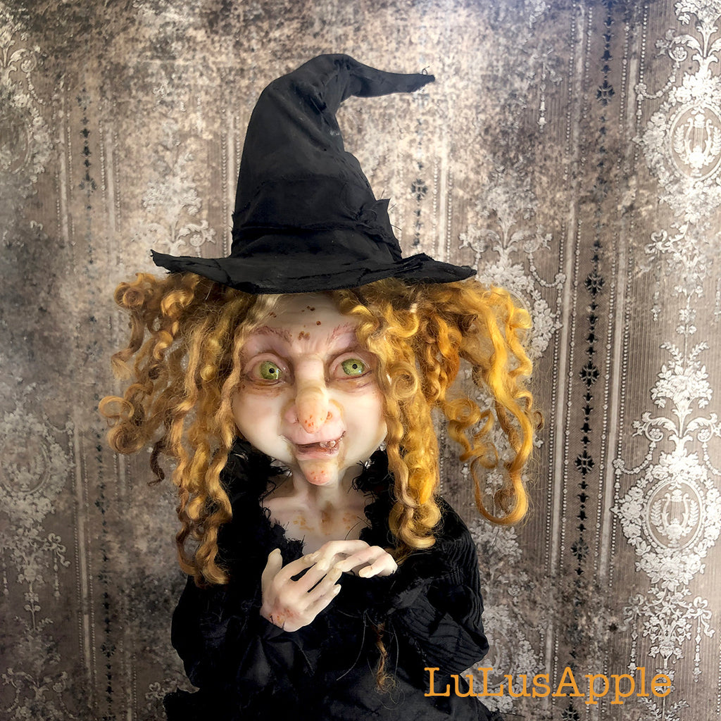 Gertie Wickety Witch OOAK Large Art Doll LuLusApple