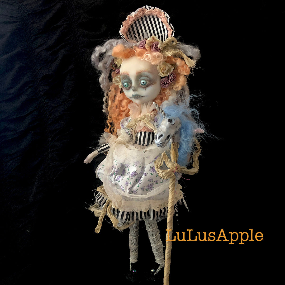 Ghastly Gertie Funeral Girl OOAK Art Doll LuLusApple