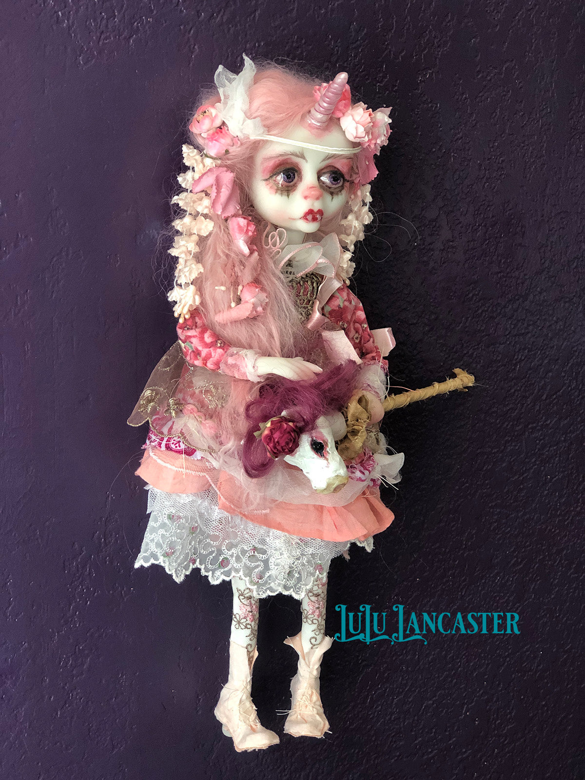 Gianna the Rococo Vampire Unicorn OOAK Art Doll LuLu Lancaster